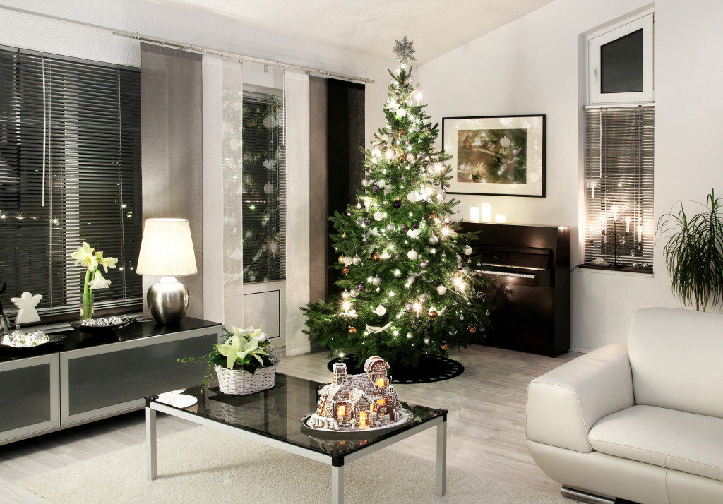 Modern Christmas living room white style